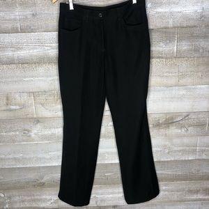 Armani Collezioni black career pants stretchy